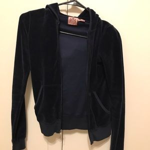 Juicy Couture zip up jeweled back